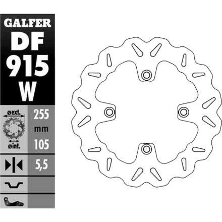 11-12 TRIUMPH SPD-TRIPLE: Galfer Solid Mount Wave Brake Rotor - Rear