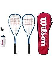 Wilson Impact Pro Squash Racket Set + Balls + Water Bottle