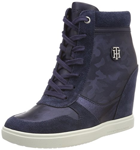 406 Sneaker Tommy Sneakers Tommy Camo Basses Bleu Dress Metallic Femme Hilfiger Navy wqqRIUP