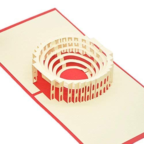 Medigy 3D Pop Up Congratulations Greeting Card for Most Occastions,The Roman Colosseum