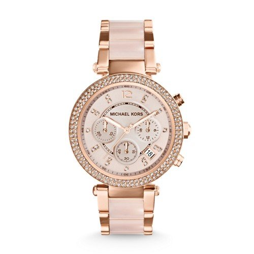 Michael Kors Rose Gold-Tone Parker Watch Mk5896 by Michael Kors