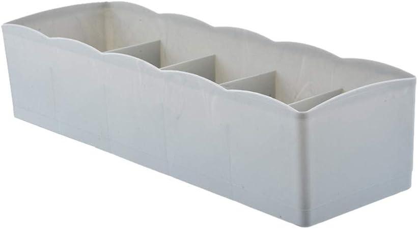 Desconocido KAERMA - Caja de Almacenamiento para Ropa Interior de Armario con 5 Rejillas, para organizar Ropa Interior, Armario, hogar, Cajas de plástico para Escritorio, 1 Caja de Almacenamiento: Amazon.es: Hogar