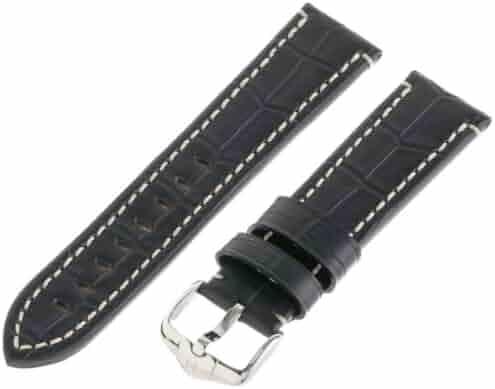 Hirsch 109028-50-22 22 -mm  Genuine Calfskin Alligator Embossed Watch Strap