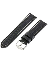 Hirsch 109028-50-22 22 -mm  Genuine Calfskin Alligator Embossed Watch Strap