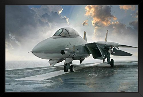F14 Tomcat Supersonic Twin Engine Fighter Jet Photo Art Print Framed Poster 20x14 inch