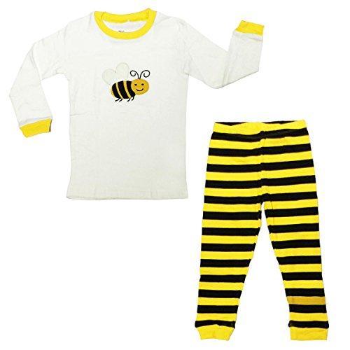 Dabuyu Bumble Bee Children's Pajamas, 3T - 4T -