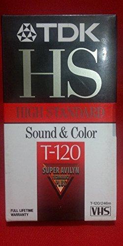 TDK High Standard T-120 VHS Tape 4 Pack by TDK