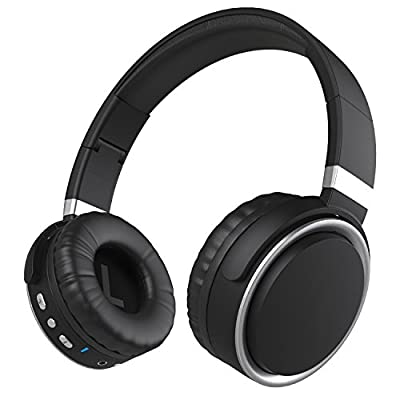 On-Ear Bluetooth Headphones, Earto Foldable Stereo Headphone Bluetooth Wireless Headset with Microphone for iPhone Smart Phone TV Laptop Tablet(Silver)