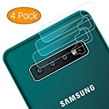 Camera Lens Protector for Samsung Galaxy S10/S10 Plus, [4 Pack] 2.5D Ultra Thin High Definition Tempered Glass Transparent Clear Film Anti-Scratch for Galaxy S10+/S10