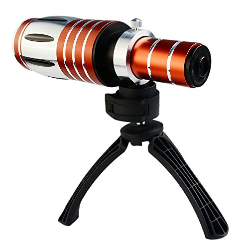 Apexel 50X Ultra Beast Magnifier Zoom Manual Focus Telephoto Telescope Phone Camera Lens Kit with High-end Tripod for Samsung Galaxy Note 5 by Apexel