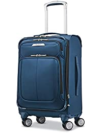 Solyte DLX Softside Expandable Luggage with Spinner Wheels, Mediterranean Blue, Carry-On 20-Inch