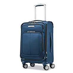 Travel Junkie 411lDXV1XSL._SS247_ Samsonite Solyte DLX Softside Expandable Luggage with Spinner Wheels, Mediterranean Blue, Carry-On 20-Inch