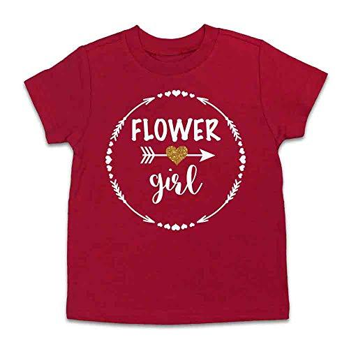 (Flower Girl Shirt Flower Girl Gift Flower Girl Tee Flower Girl Top (4 Toddler, Red))