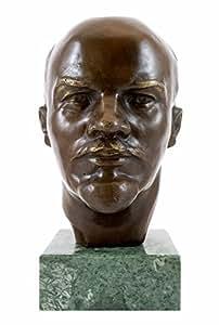 Bronce Estatua–Vladimir Lenin–gladenb acquistano angular–Firmada–modelado–Busto Acquistare