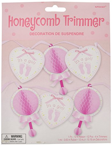Baby Soft Pink Honeycomb Trimmer (12' Trimmer One Paper)
