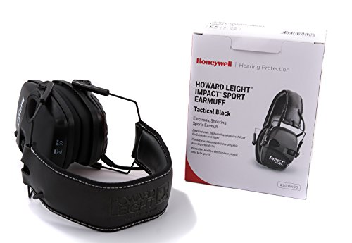 Honeywell 1034490 Howard Leight Casque Antibruit Impact Sport Black, SNR 25 7