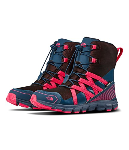 - The North Face Junior Winter Sneaker - Blue Wing Teal & Atomic Pink - 2.5
