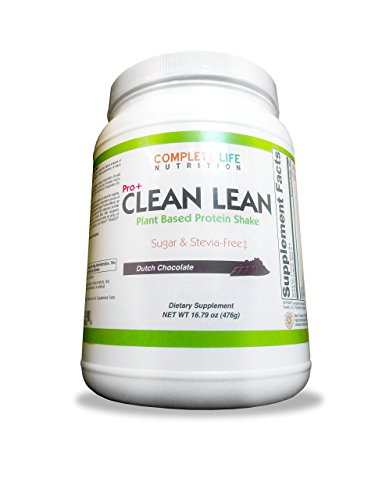 Clean Lean Chocolate Weight Loss Shake by Complete Life Nutrition – Natural Herbal and Vitamin Pea Protein Meal Replacement and Cleanse Shake – Low Carb – Use Daily For Healthy Women, Men, Diabetic