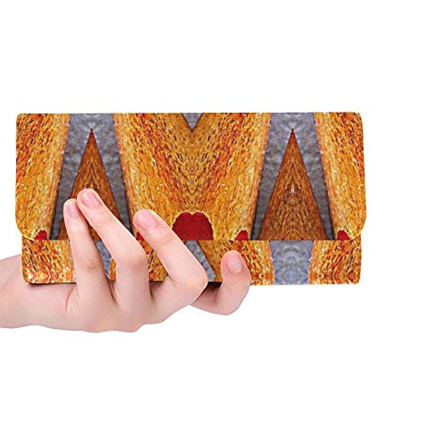 Unique Custom Paper Pencils Scrapbooking Women Trifold Wallet Long Purse Credit Card Holder Case Handbag