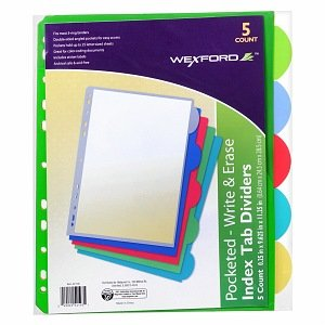walgreens-index-tab-dividers-with-pockets-pack-of-5