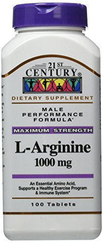 21st Century L-Arginine 1000 Mg Tablets, 100-Count (Pack of 3) by 21st Century