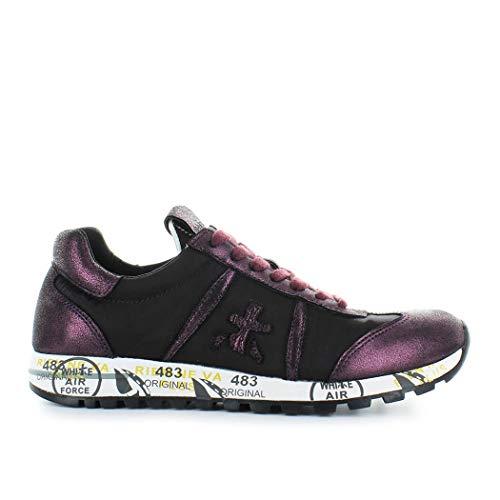 Premiata Donna Lucyd3301 Viola Pelle Sneakers pVSqUzM