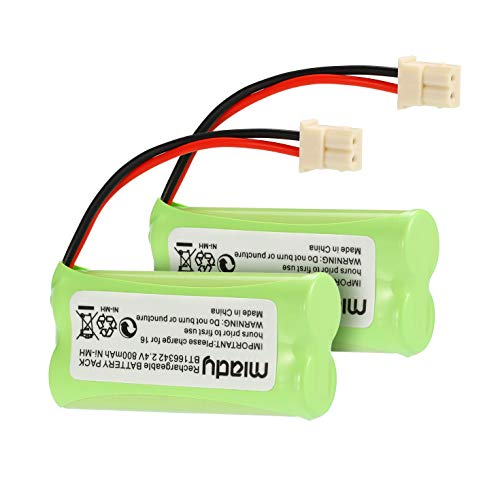 (Miady BT183342 BT283342 BT166342 BT266342 BT162342 BT262342 Battery Compatible with VTech CS6114 CS6419 CS6719 AT&T EL52300 CL80112 VTech CS6719-2 Cordless Handsets (Pack of 2))