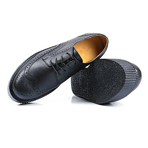 Chaussures RoseG Cuir Plateaforme Punk Lacets Gothique Creeper Homme Brogue 87rf8wxBq