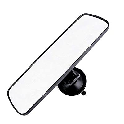 "PME 9.8"" Day/Night Rear View Mirror, Universal Car Truck Mirror Interior Rear View Mirror Suction Cup Rearview Mirror - Deluxe Version,Plain Mirror: Automotive [5Bkhe0108135]"