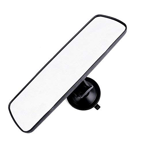 "PME 9.8"" Day/Night Rear View Mirror, Universal Car Truck Mirror Interior Rear View Mirror Suction Cup Rearview Mirror - Deluxe Version,Plain Mirror"