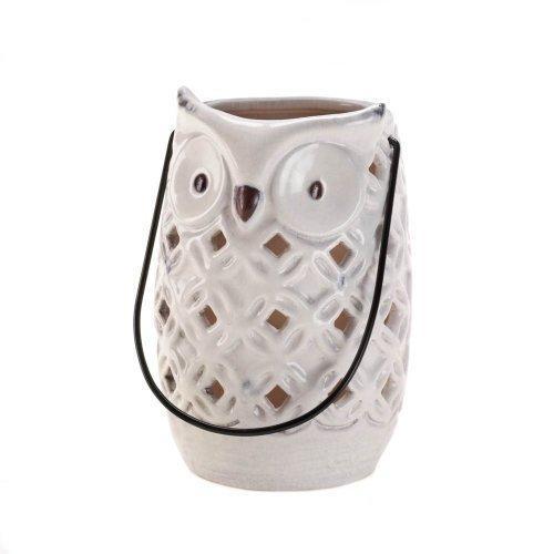Zingz and Thingz White Owl Lantern (Owl Lantern)