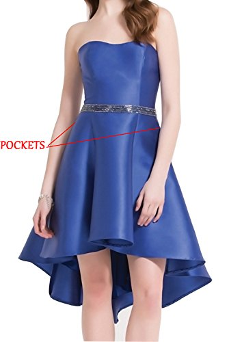 Blue Prom Dress Bridesmaid Dresses Women's Chiffon Short Homecoming HONGFUYU 190 Royal qxv7Fnwq