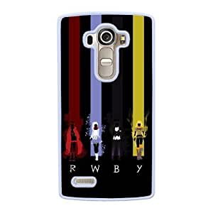 Grouden R Create and Design Phone Case,RWBY Cell Phone Case for LG G4 White + 1*Touch Stylus Pen (Free) GHL-2877870