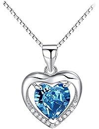 Heart Pendant Eternal Love Heart Necklace Jewelry Silver...