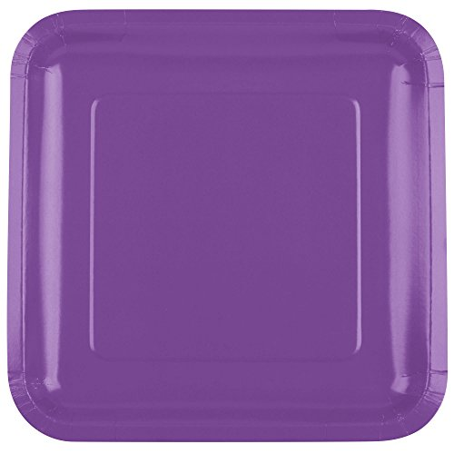 - 318925 9 Amethyst Purple Square Paper Plate - 18/Pack By TableTop King