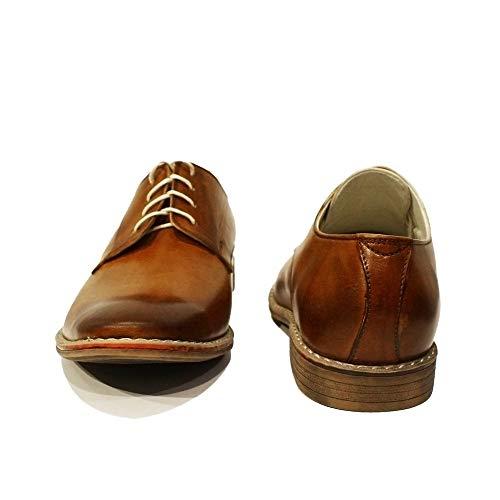 De Cuir Handmade Oxfords Des À Pour Malato Modello Chaussures Main Peint Lacer Brun Italiennes La Vachette Hommes Rtq5qvwn