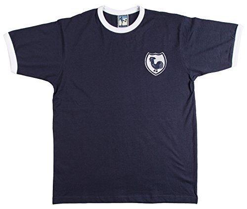 Stile retrò Tottenham Hotspurs 1940s Fort calcio camicia a maniche corte. Nuova di misure particolarmente grandi.fino a piccolo logo ricamato. 100% cotone Old School Shop