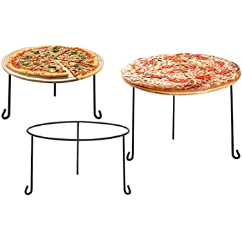 MyGift Metal Wire Round Pizza Pan Riser Racks, Set of 3