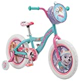 Nickelodeon Paw Patrol Bicycle for Kids, Featuring Skye and Everest on a Teal Steel Frame, Includes Training Wheels, 16-Inch Wheels