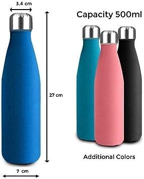 Gimnasio Ciclismo. Yoga Deportes SHAKE 2GO Botella de Agua de Acero Inoxidable con Botellas Reutilizables t/érmicas: Resistente a los ara/ñazos y f/ácil de Limpiar para ni/ños Playa y Oficina
