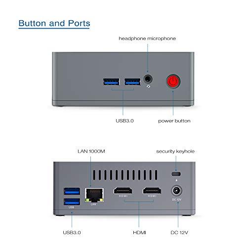 [Versión de Actualización] Beelink BT3-X Mini PC Ordenador de Sobremesa con HDMI, Intel Apollo Lake Celeron J3355, LPDDR4 4G +...