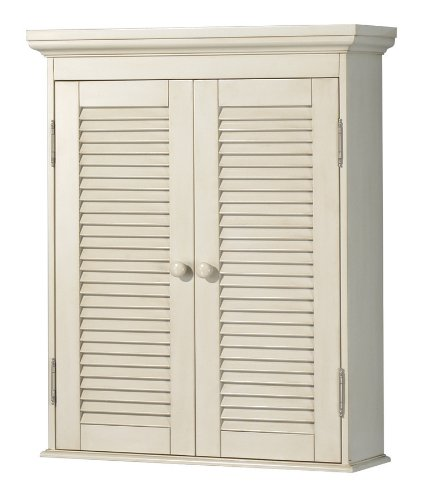 Pegasus CTAW2429 Cottage Wall Cabinet, Premium Antique White