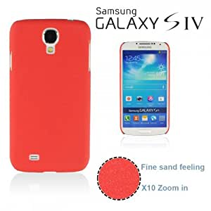 OnlineBestDigital - Frosted Surface Hard Back Plastic Case for Samsung Galaxy S4 IV I9500 / I9505 - Red