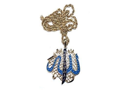 Islamic Muslim Arab Necklace Pendant Enamel Women Men Gift Car Hanging Decor Home Holy Allah God -