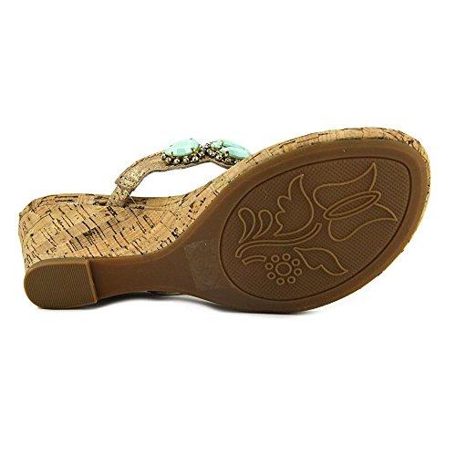 White Mountain 'Abra de mujer sandalias Mint Leather