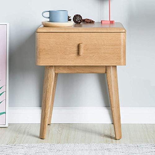 安定した ベッドサイドサイドテーブルシンプルかつ耐久性と実用的なソリッドウッドベッドサイドテーブルの形 ファッション