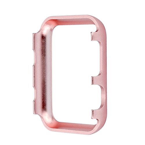 Aluminum Metal Watch Case Crystal Diamonds Plate Protective Cover Ultra Thin Bumper Watch Series 1/2/3(Best 3D Bling Gift Your iWatch (Rose Bling, 38 mm) by SD Trading (Image #5)