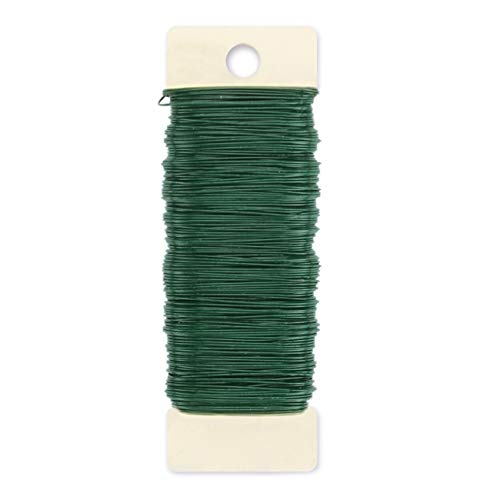 Darice Paddle 24 Gauge, Green, 59 Yards Floral Wire,]()