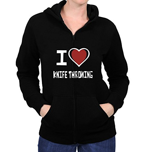 Price comparison product image Teeburon I love Knife Throwing Women Zip Hoodie