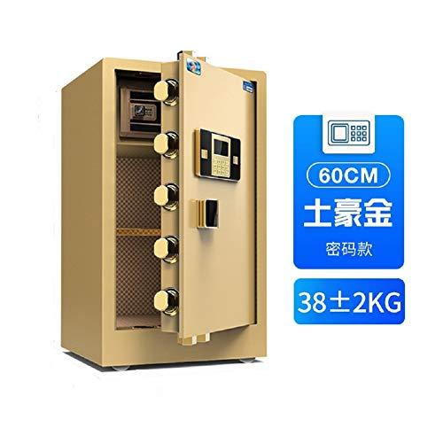 Fingerprint Password Cabinet Safes Fireproof Safe and Waterproof Safe with Digital Keypad (Gold, high 60CM)